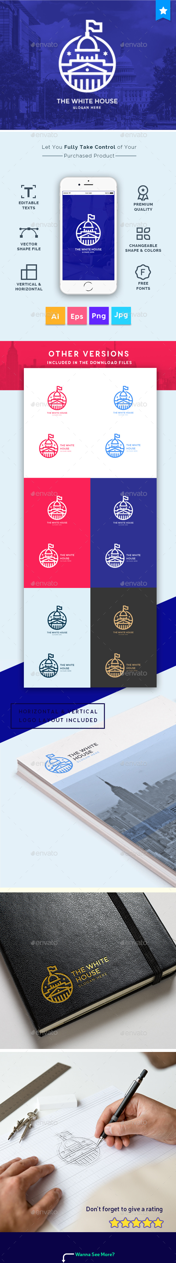 The White House - Business Consultant, Real Estates, Agency, Creative Modern Logo Template - Logo Templates