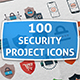 100 Security Icons - GraphicRiver Item for Sale
