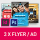 Corporate Business Universal Flyer/ad 3x InDesign and Photoshop Template - GraphicRiver Item for Sale