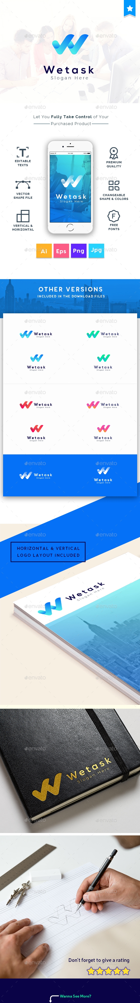 We Task - Letter W Logo Template - Logo Templates