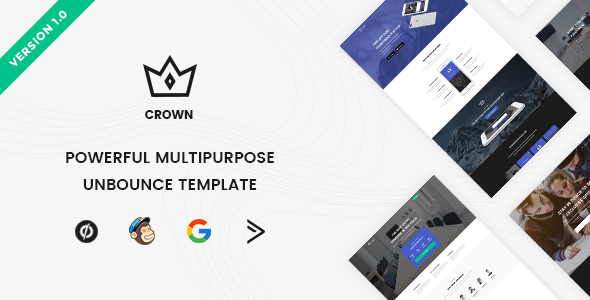 Download Crown - Multipurpose Unbounce Landing Pages Pack            nulled nulled version