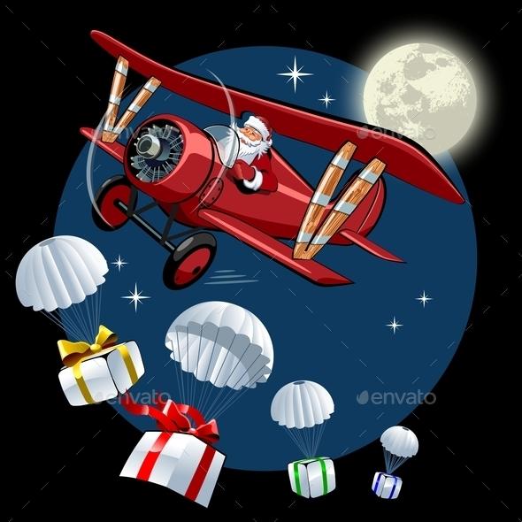 Cartoon Retro Christmas Card - Christmas Seasons/Holidays