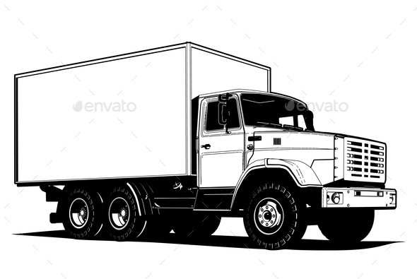 Vector Truck - Man-made Objects Objects