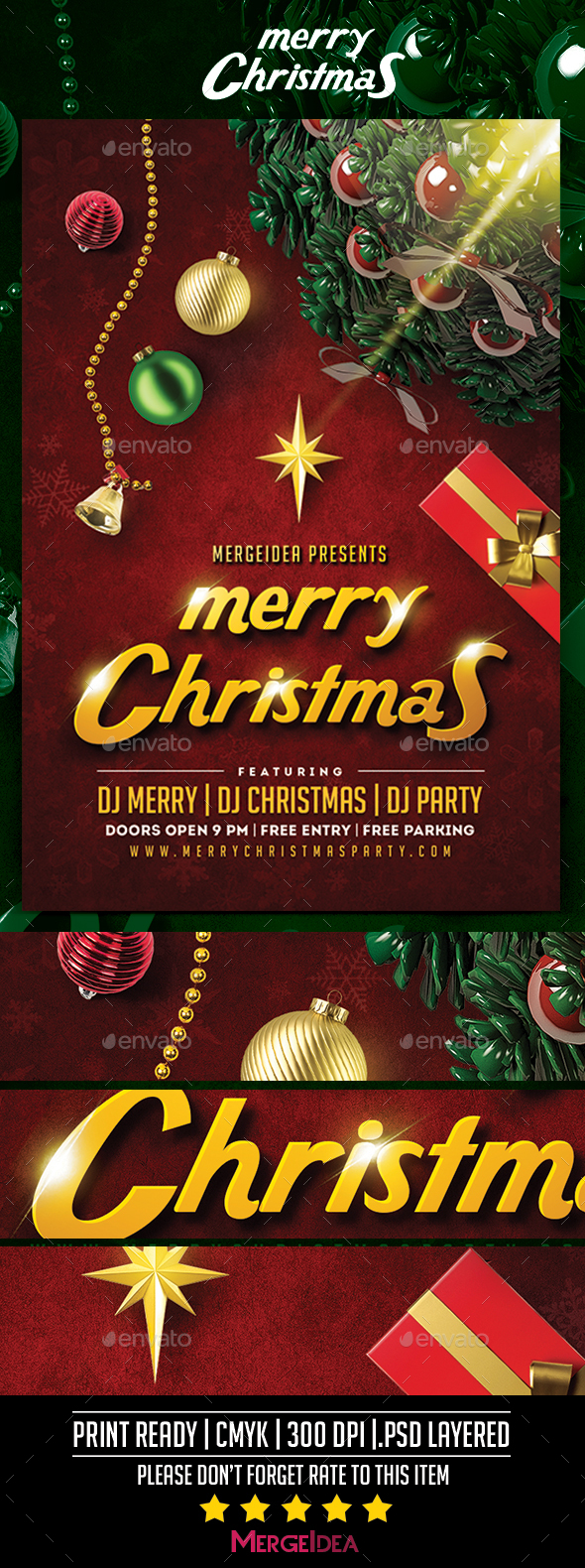 GraphicRiver Merry Christmas Party Flyer 21058993