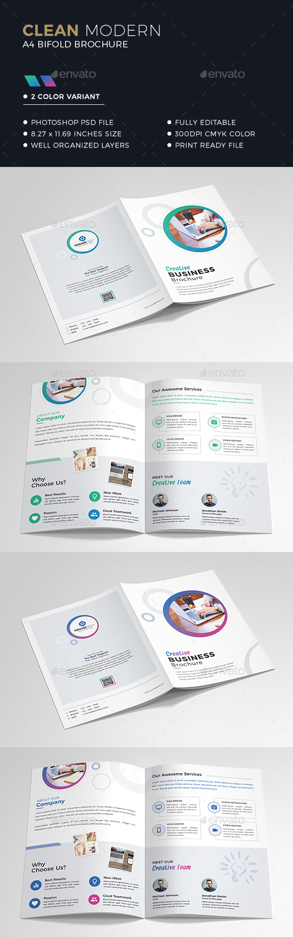 GraphicRiver Bifold Business Brochure 21066630