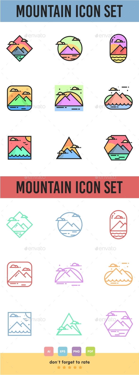 GraphicRiver Mountain Icon Set 21072087