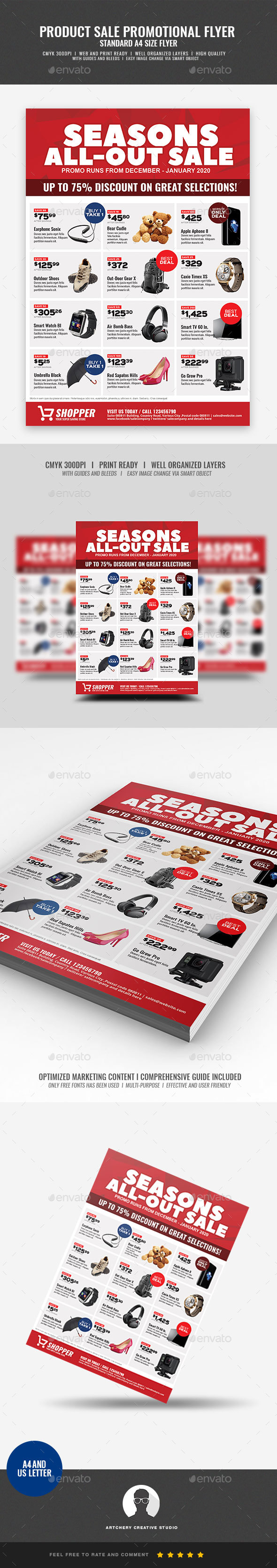 Product Promotional Sale Flyer - Commerce Flyers