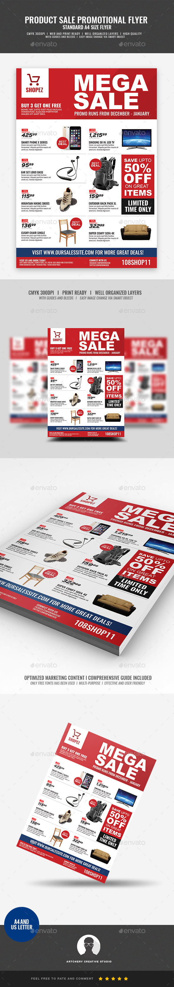 Sales and Promotional Flyer - Commerce Flyers