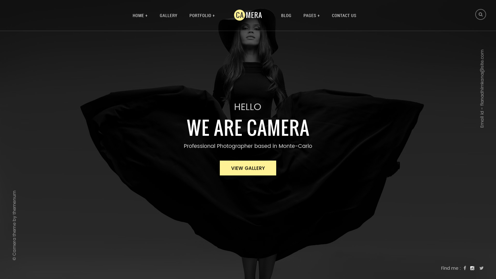 camera photography photo gallery portfolio psd template by themenum