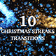 10 Light Streaks Christmas Transitions - VideoHive Item for Sale