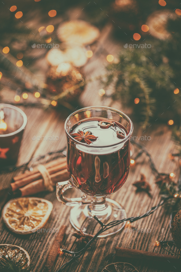 Traditional drink on winter holiday. - Stock Photo - Images