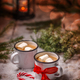 Christmas card with hot chocolate - PhotoDune Item for Sale