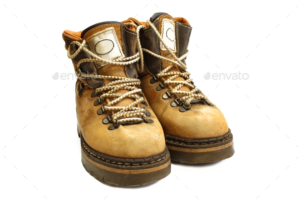 old yellow boots - Stock Photo - Images
