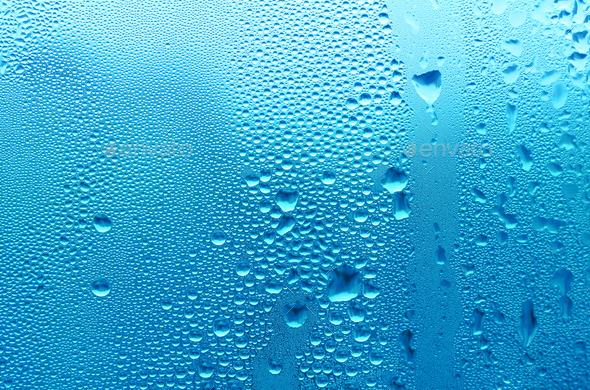 blue water drop texture - Stock Photo - Images
