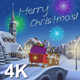 Christmas Animated Card With Hares And Santa Claus in Town - VideoHive Item for Sale