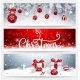 Christmas Banners Set with Balls and Gifts - GraphicRiver Item for Sale