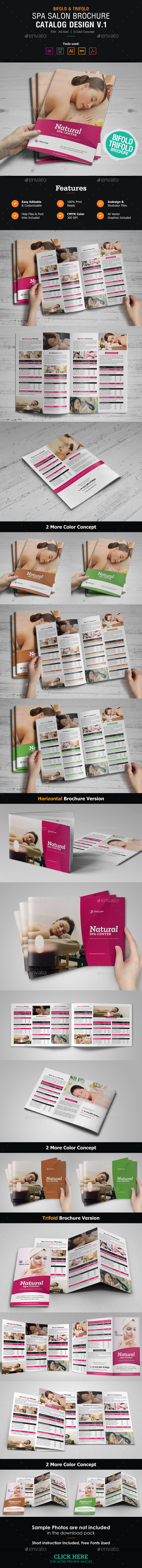 GraphicRiver Spa Salon Brochure Catalog 21073197