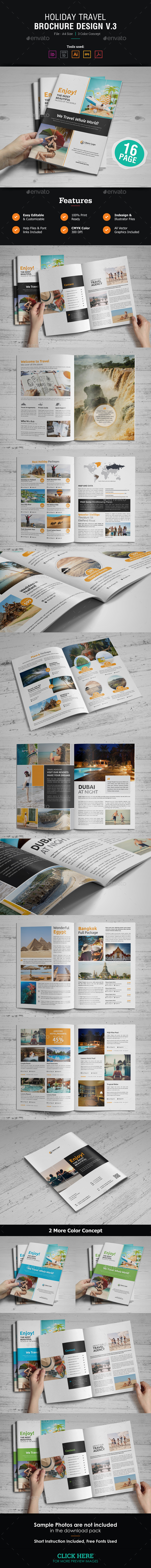 Holiday Travel Brochure Design v3 - Corporate Brochures