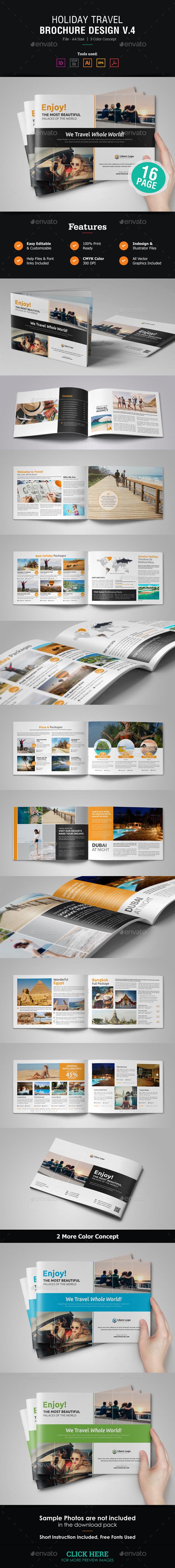 Holiday Travel Brochure Design v4 - Corporate Brochures