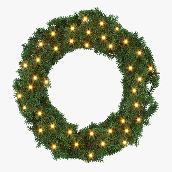 Decorative Christmas Wreath - 3DOcean Item for Sale