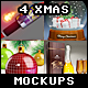 Xmas Mockups Bundle Vol.1 - GraphicRiver Item for Sale