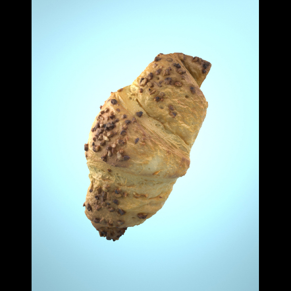 3DOcean Photorealistic Delicious Chocolate Croissant 21073363