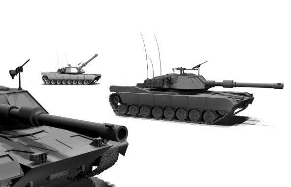 M1 Abrams tank - 3DOcean Item for Sale