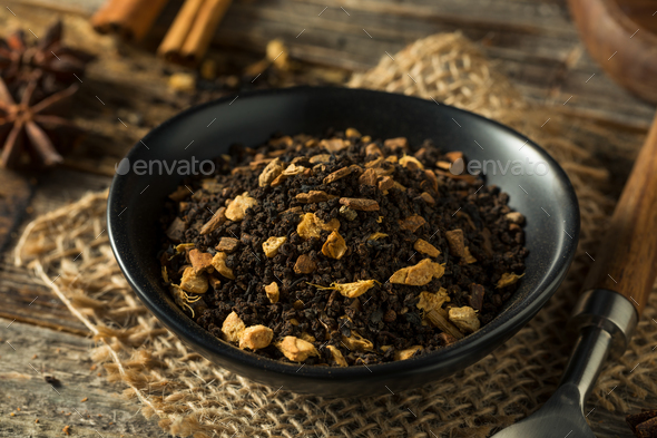 Raw Dry Organic Chai Tea - Stock Photo - Images