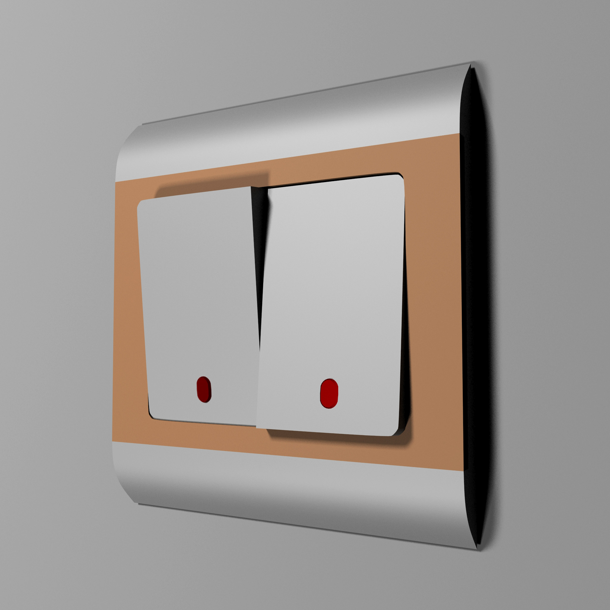 Low Poly Dual Light Switch by alex3ds | 3DOcean