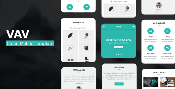VAV - Clean Mobile Template - Mobile Site Templates