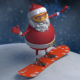 Santa - Christmas Snowboard - VideoHive Item for Sale