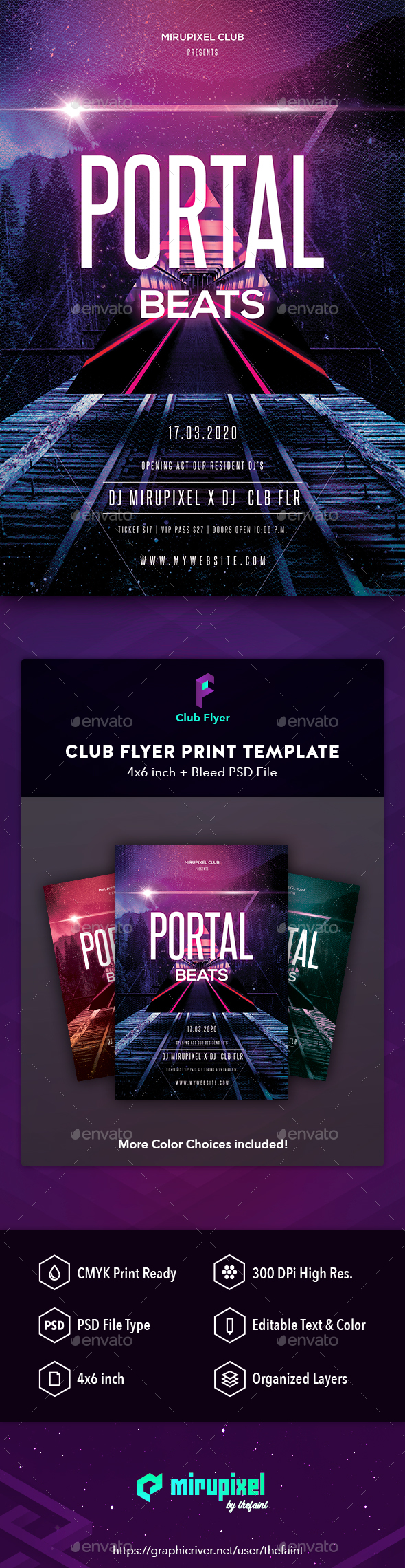 GraphicRiver Club Flyer Portal Beats 21073917