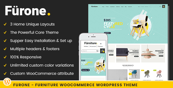 ThemeForest Furone Furniture WooCommerce WordPress Theme 20760732