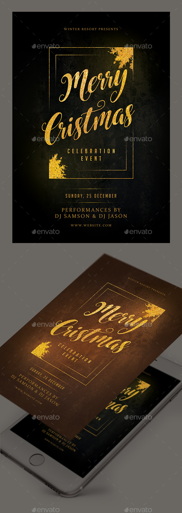 GraphicRiver Christmas Event Flyer 21074264