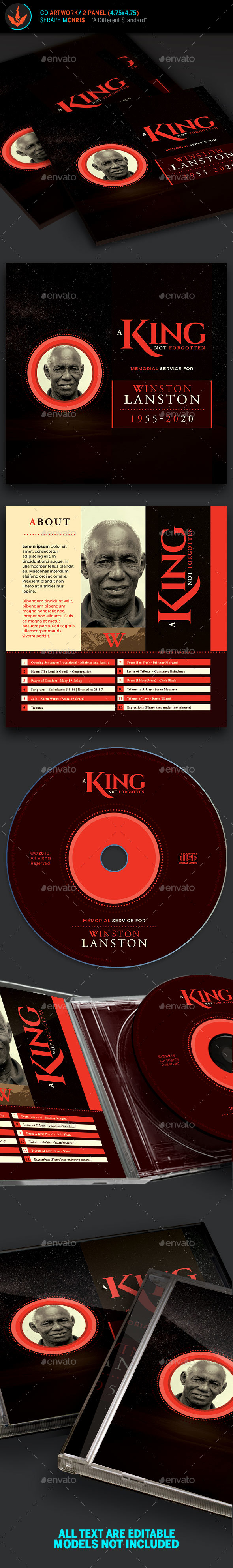 King Funeral CD Artwork Template - CD & DVD Artwork Print Templates