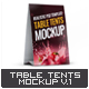 Table Tents Mock-Up V.1 - GraphicRiver Item for Sale