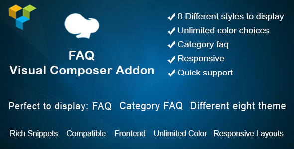 Visual Composer FAQ  element Add on - CodeCanyon Item for Sale