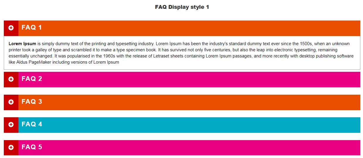 Visual Composer FAQ  element Add on - 1