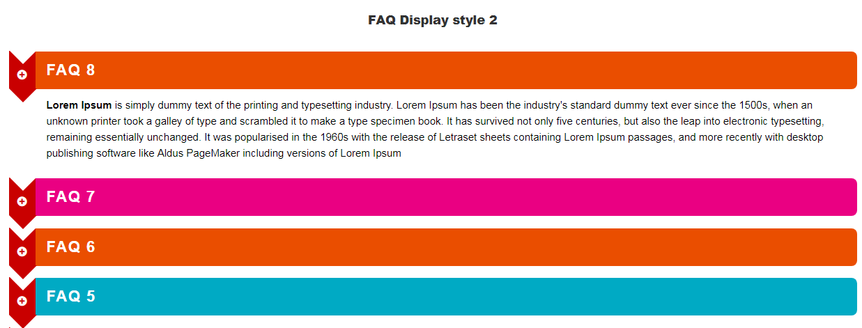 Visual Composer FAQ  element Add on - 2