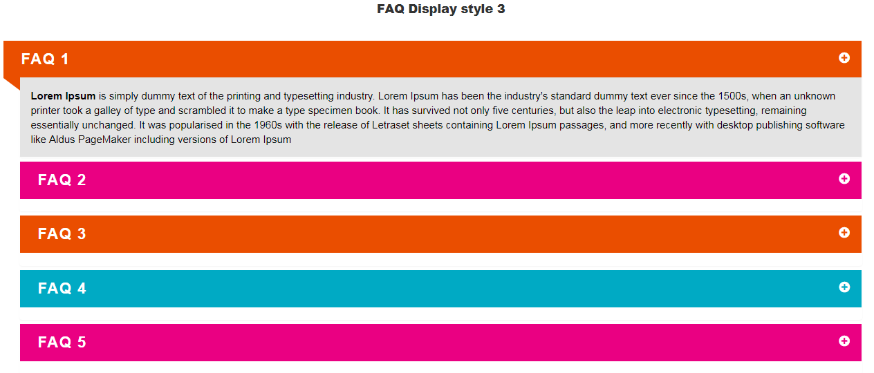 Visual Composer FAQ  element Add on - 3