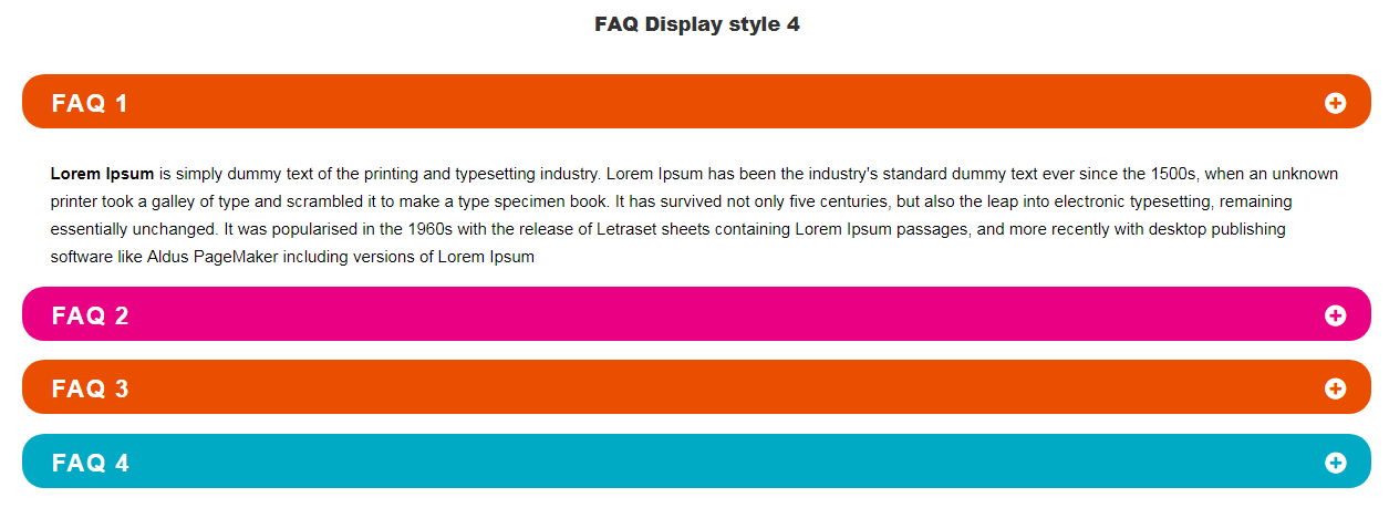 Visual Composer FAQ  element Add on - 4