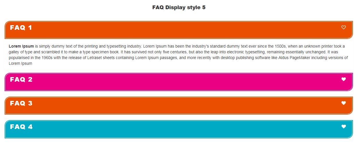 Visual Composer FAQ  element Add on - 5