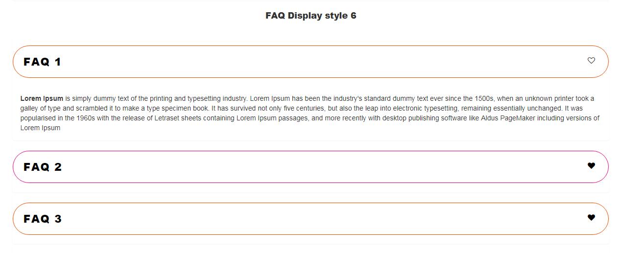 Visual Composer FAQ  element Add on - 6