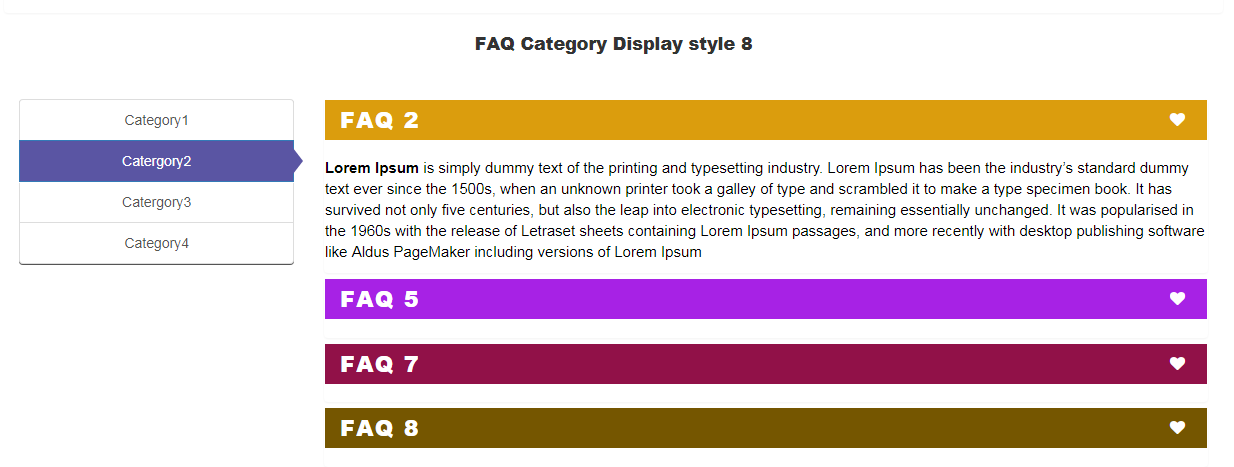 Visual Composer FAQ  element Add on - 8