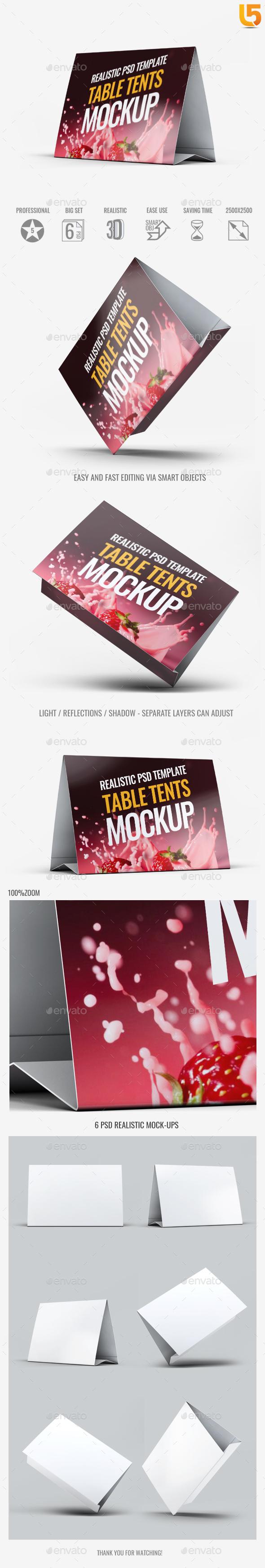 Table Tents Mock-Up V.2 - Print Product Mock-Ups