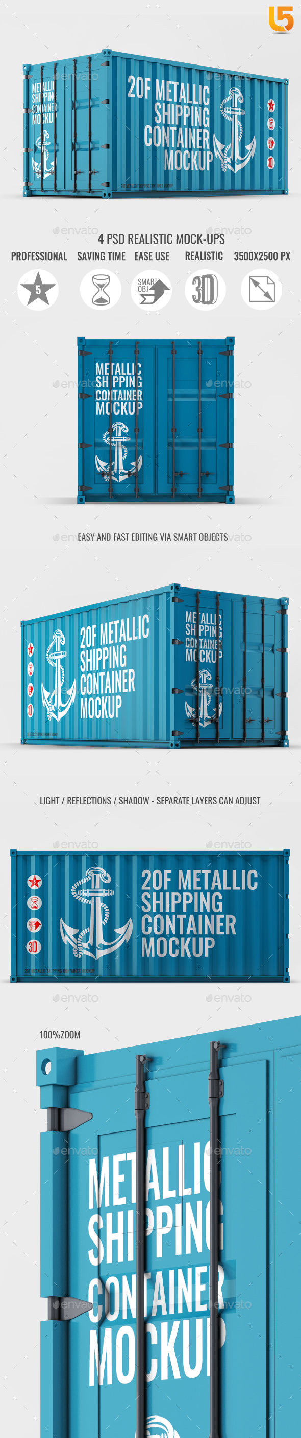 Shipping Container Mock-Up - Miscellaneous Product Mock-Ups