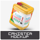 Plastic Canister Mock-Up - GraphicRiver Item for Sale