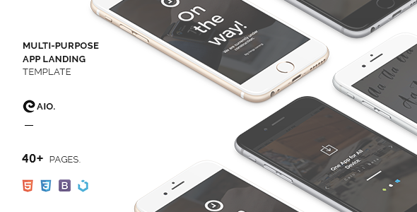 Caio – Minimal App Landing Template - Apps Technology