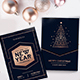 Rose Gold Merry Christmas Cards Set