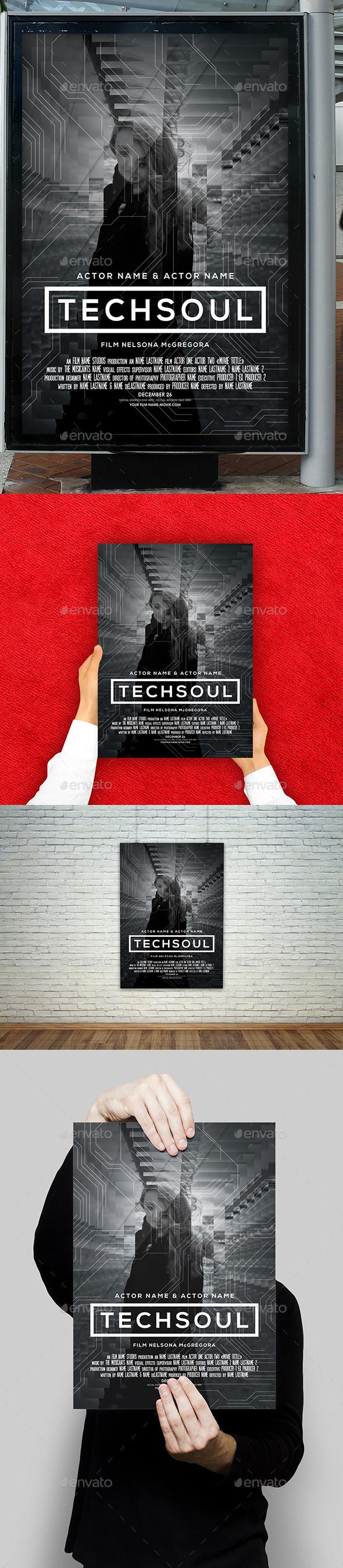 GraphicRiver Tech Soul Film Movie Poster 21074933